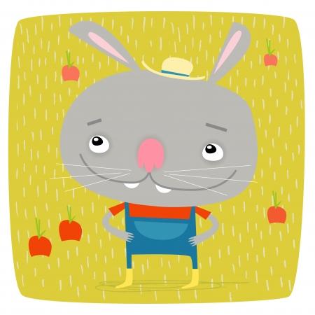 wellingtons: Farmer Bunny