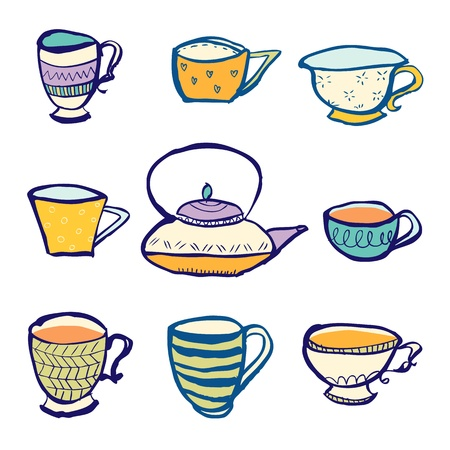 chinaware: Tea Party Illustration