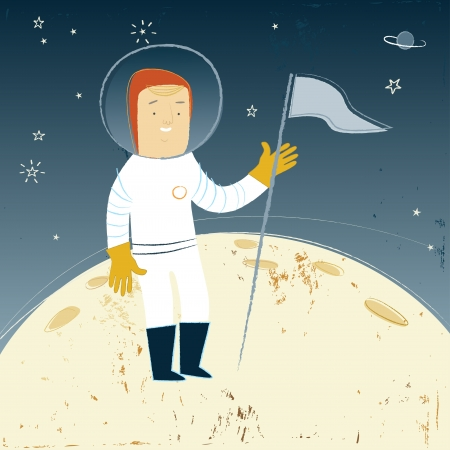Man On The Moon Illustration