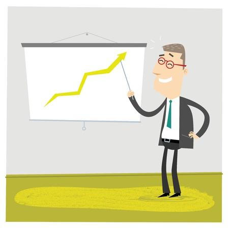 Green Graph Illustration