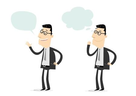 set of businessman: Talking And Wondering Set