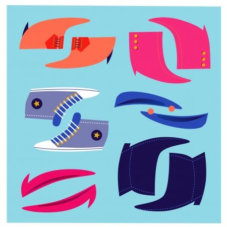 Funny Shoes Set Illustration