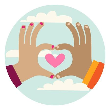 Heart Hands Gesture Vector