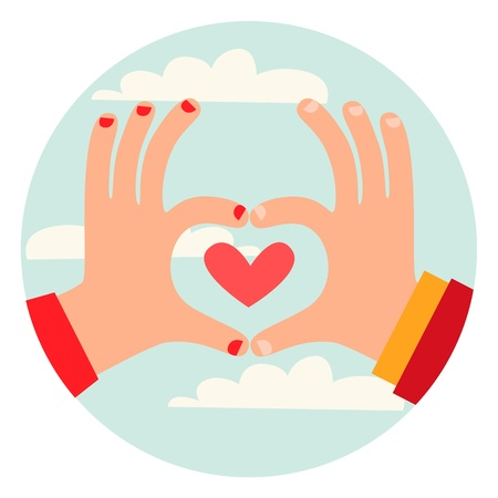 Love Gesture Stock Vector - 18996554