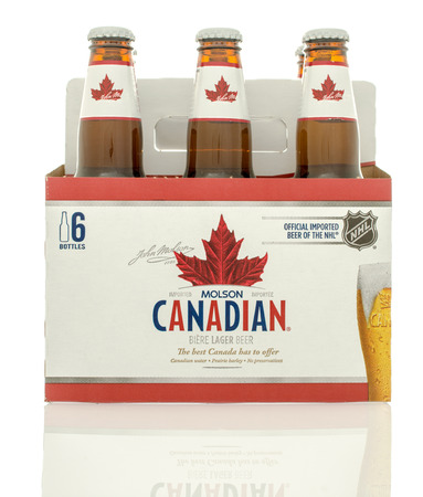 molson: Winneconne, WI - 10 Jan 2016: A six pack of Molson Canadian beer.
