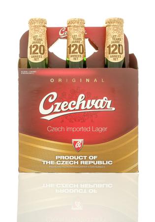 6 pack beer: Winneconne, WI - 10 Jan 2016: A six pack of Czechvar beer.