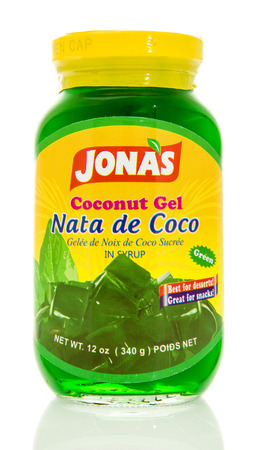 noix: Winneconne, WI - 15 May 2016: Bottle of Jonas coconut gel on an isolated background