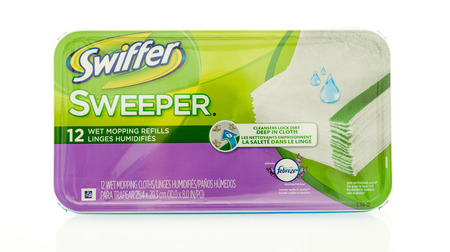 Winneconne, WI - 18 May 2016:  Package of Swiffer sweeper wet mopping refills on an isolated background