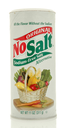 Winneconne, WI - 18 May 2016:  Container of original No Salt on an isolated background