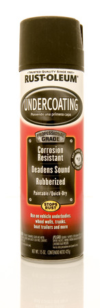 preventative: Winneconne, WI - 31 May 2016:  Can of Rust-Oleum undercoating on an isolated background