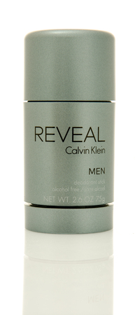 reveal: Winneconne, WI - 2 June 2016:  Stick of Reveal by Calvin Klein deodorant on an isolated background