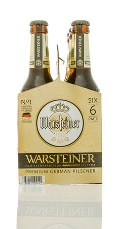 6 12: Winneconne, WI - 10 Jan 2016: A six pack of Warsteiner beer.