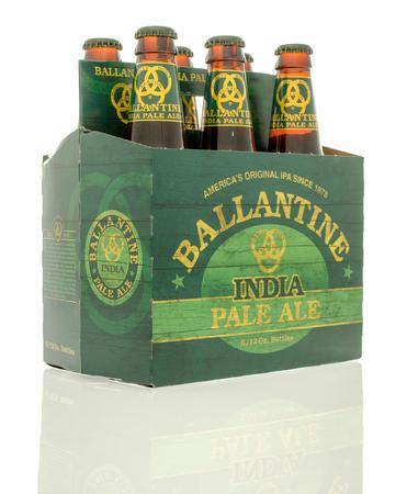 6 pack beer: Winneconne, WI - 10 Jan 2016: A six pack of Ballantine India Pale Ale beer.