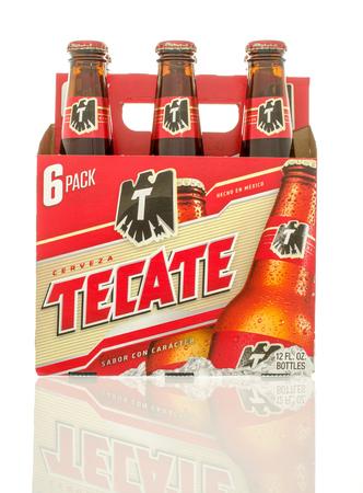 6 pack beer: Winneconne, WI - 10 Jan 2016: A six pack of Tecate beer.