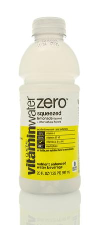 revive: Winneconne, WI - 14 Jan 2016:  Bottle of Vitamin water in squeezed lemonade flavor.