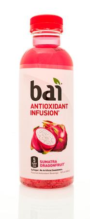 revive: Winneconne, WI - 14 Jan 2016:  Bottle of Bai antioxidant infusion in sumatra dragonfruit flavor. Editorial
