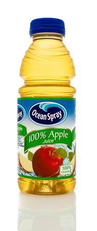 Winneconne, WI - 14 Jan 2016:  Bottle of Ocean Spray apple juice.
