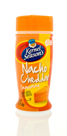nacho: Winneconne, WI -  17 Jan 2016: Bottle of Kernel Seasons nacho cheddar seasoning Editorial