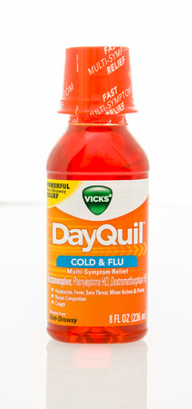 orginal: Winneconne, WI - 29 Jan 2016:  A bottle of DayQuil cold and flu medicine