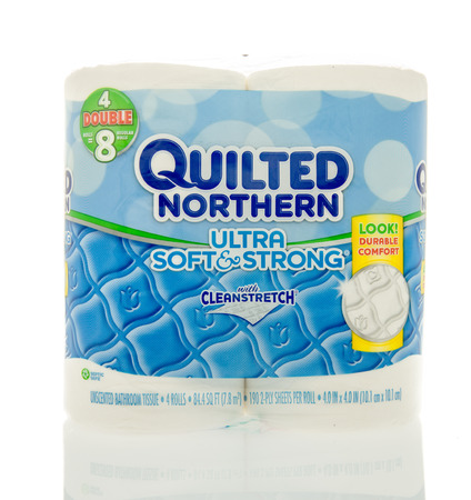 quilted: Winneconne, WI - 6 Feb 2016:  Package Quilted Northern toilet paper.