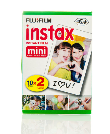 illustrative material: Winneconne, WI - 5 Feb 2016:  Package of Fujifilm Instax instant film.