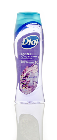 body wash: Winneconne, WI - 6 Feb 2016:  Bottle off Dial body wash for woman. Editorial