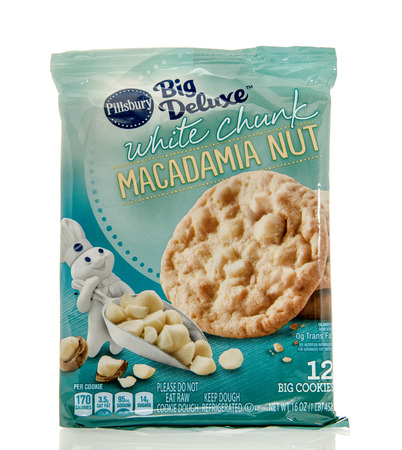 dough nut: Winneconne, WI - 7 Feb 2016:  Package of Pillsbury cookie dough in white chunk macadamia nut flavor.