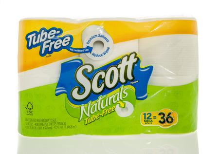 scott: Winneconne, WI - 7 Feb 2016: Package of Scott toilet paper. Editorial