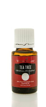 oil tree: Winneconne, WI - 10 Feb 2016:  Bottle of Young Living tea tree essential oil. Editorial