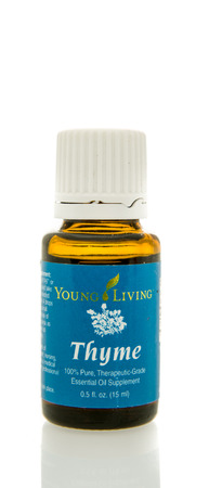 hydrophobic: Winneconne, WI - 10 Feb 2016:  Bottle of Young Living thyme essential oil.