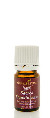 Winneconne, WI - 10 Feb 2016:  Bottle of Young Living sacred frankincense essential oil. Editorial