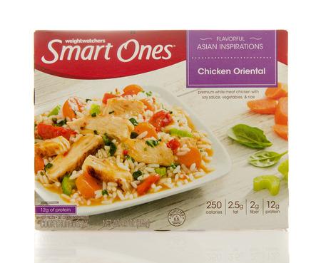 ones: Winneconne, WI - 2 March 2016:  Box of Smart ones chicken oriental meal by weightwatchers.
