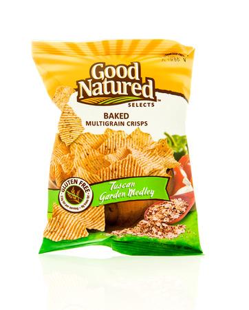 medley: Winneconne, WI - 17 Feb 2016: Bag of Good Natured baked chips in tuscan garden medley flavor. Editorial