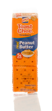 lance: Winneconne, WI - 19 Feb 2016: Package of Lance toast chee crackers that contains peanut butter.
