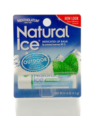 medicated: Winneconne, WI - 25 Feb 2016:  Package of Natural Ice medicated lip balm.