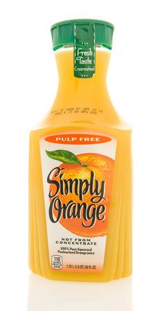 simply: Winneconne, WI - 26 Feb 2016: Container of Simply Orange; orange juice