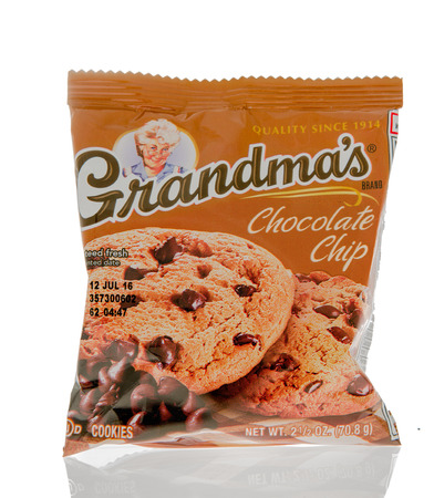 grandmas: Winneconne, WI - 1 March 2016: A package of Grandmas cookies in chocolate chip flavor