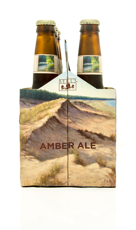 6 pack beer: Winneconne, WI - 15 March 2016:  A six pack of  Bells amber ale beer Editorial