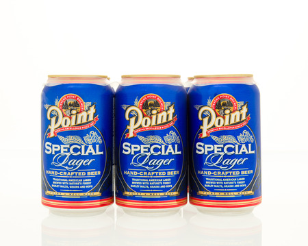 6 pack beer: Winneconne, WI - 15 March 2016:  A six pack of Point beer in cans. Editorial