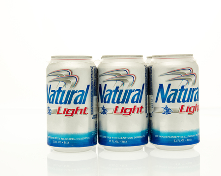 6 pack beer: Winneconne, WI - 15 March 2016:  A six pack of Natural Light beer in cans.