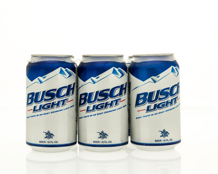 6 pack beer: Winneconne, WI - 15 March 2016:  A six pack of Busch light beer in cans. Editorial