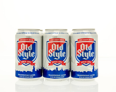 6 pack beer: Winneconne, WI - 15 March 2016:  A six pack of Old style beer in cans.