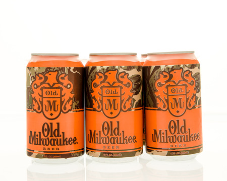6 pack beer: Winneconne, WI - 15 March 2016:  A six pack of Old Milwaukee beer in cans. Editorial