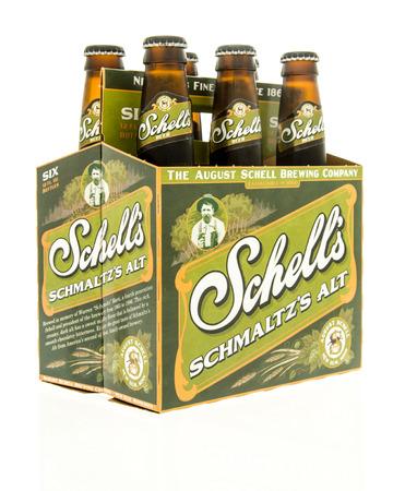 6 12: Winneconne, WI - 15 March 2016:  A six pack of  Shells Schmaltzs alt beer