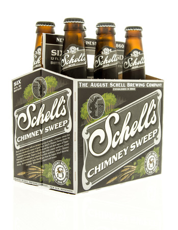 6 pack beer: Winneconne, WI - 15 March 2016:  A six pack of  Shells chimney sweep beer