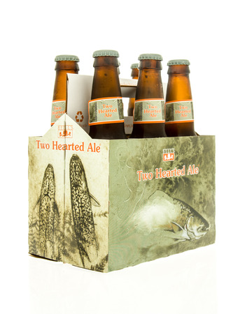 6 pack beer: Winneconne, WI - 15 March 2016:  A six pack of  Bells two hearted ale beer Editorial