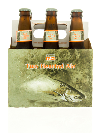 hearted: Winneconne, WI - 15 March 2016:  A six pack of  Bells two hearted ale beer Editorial