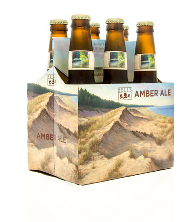 Winneconne, WI - 15 March 2016:  A six pack of  Bells amber ale beer Editorial