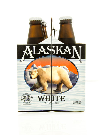 6 pack beer: Winneconne, WI - 15 March 2016:  A six pack of  Alaskan white beer Editorial