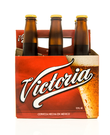 6 pack beer: Winneconne, WI - 15 March 2016:  A six pack of Victoria beer from Mexico
